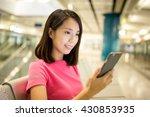 asian woman using smart phone... | Shutterstock . vector #430853935