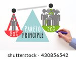 Small photo of Pareto Principle or law of the vital few. 80/20 rule. factor sparsity