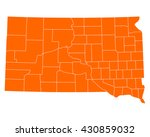 map of south dakota | Shutterstock .eps vector #430859032