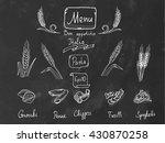 set of various pasta elements....   Shutterstock .eps vector #430870258