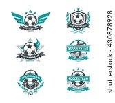 soccer club badge set  football ... | Shutterstock .eps vector #430878928