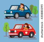 vector illustration of flat... | Shutterstock .eps vector #430880395