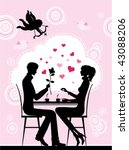 silhouette of the couple in the ... | Shutterstock .eps vector #43088206