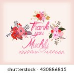 thank you muchly with... | Shutterstock .eps vector #430886815