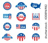 vector set of made in the usa... | Shutterstock .eps vector #430896982