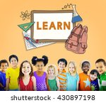 learn kids camp student... | Shutterstock . vector #430897198