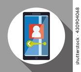 smartphone design. app icon.... | Shutterstock .eps vector #430904068
