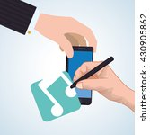 smartphone design. app concept. ... | Shutterstock .eps vector #430905862