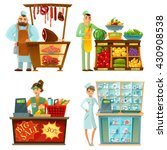 traditional counter service... | Shutterstock .eps vector #430908538