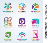 kids logo for business vector... | Shutterstock .eps vector #430908922