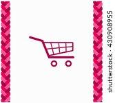 shopping cart icon flat design. ...