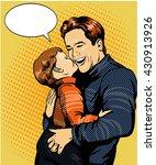 happy family pop art vector... | Shutterstock .eps vector #430913926