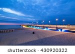 colorful pier lights in the... | Shutterstock . vector #430920322