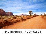 red dirt road in rocky desert... | Shutterstock . vector #430931635