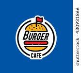 burger logo sticker emblem   Shutterstock .eps vector #430931866