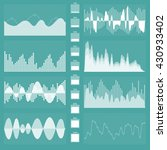 sound waves. musical sound... | Shutterstock .eps vector #430933402