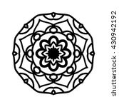 mandala. ethnic decorative... | Shutterstock .eps vector #430942192