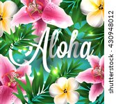 aloha hawaii. hand lettering... | Shutterstock .eps vector #430948012