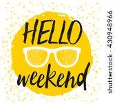 typographic design poster in... | Shutterstock .eps vector #430948966