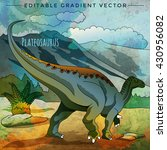 dinosaur in the habitat. vector ... | Shutterstock .eps vector #430956082