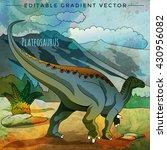 dinosaur in the habitat. vector ... | Shutterstock .eps vector #430956082