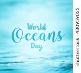world ocean day  june 8... | Shutterstock . vector #430959022