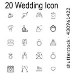wedding icon set on white... | Shutterstock .eps vector #430961422