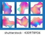 fluid colors backgrounds set.... | Shutterstock .eps vector #430978936
