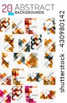collection of abstract... | Shutterstock .eps vector #430980142