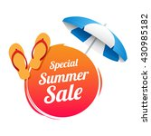 special summer sale label   Shutterstock .eps vector #430985182