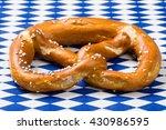 single bavarian pretzel with...   Shutterstock . vector #430986595