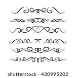 set of page decoration line... | Shutterstock .eps vector #430995202