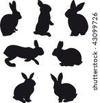 rabbit vector | Shutterstock .eps vector #43099726
