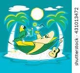 banana hammock | Shutterstock .eps vector #431013472