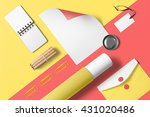 branding stationery mockup... | Shutterstock . vector #431020486