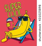 cartoon banana vector character ... | Shutterstock .eps vector #431025898