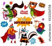 part 2. superhero animal.... | Shutterstock .eps vector #431026558