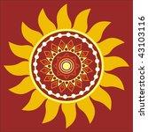 vector stylized sun | Shutterstock .eps vector #43103116
