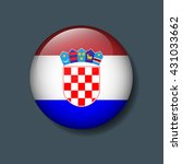 croatia flag on button  logo...