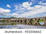 roman bridge in ponte de lima ... | Shutterstock . vector #431036662