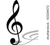 clef.vector image | Shutterstock .eps vector #43104472