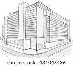architectural drawing. | Shutterstock .eps vector #431046436