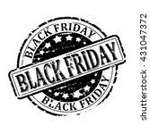 damaged black round stamp with... | Shutterstock .eps vector #431047372