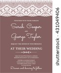 wedding invitation card with... | Shutterstock .eps vector #431049406