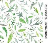 watercolor eco pattern  ... | Shutterstock . vector #431056612