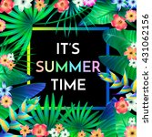 summer typographical background ... | Shutterstock .eps vector #431062156