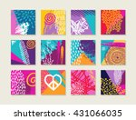 colorful summer style label... | Shutterstock .eps vector #431066035