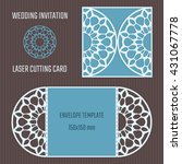 diy laser cutting vector... | Shutterstock .eps vector #431067778