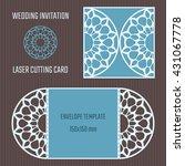 diy laser cutting vector... | Shutterstock .eps vector #431067778