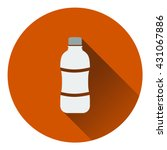 icon of water bottle . flat...